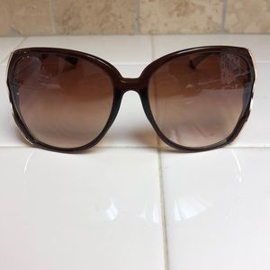 Accessories - Brown and gold sunglasses